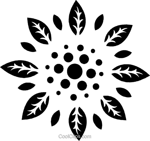 decorative floral design Royalty Free Vector Clip Art illustration vc026950