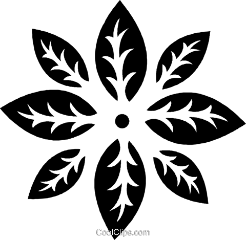 decorative floral design Royalty Free Vector Clip Art illustration vc026952