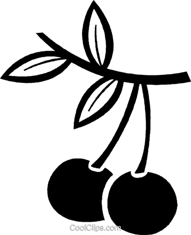 cherries Royalty Free Vector Clip Art illustration vc026977