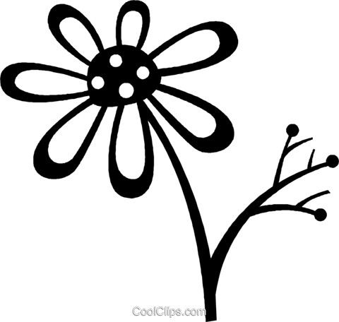 daisy Royalty Free Vector Clip Art illustration vc026998