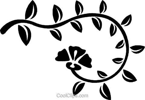 decorative floral design Royalty Free Vector Clip Art illustration vc027022