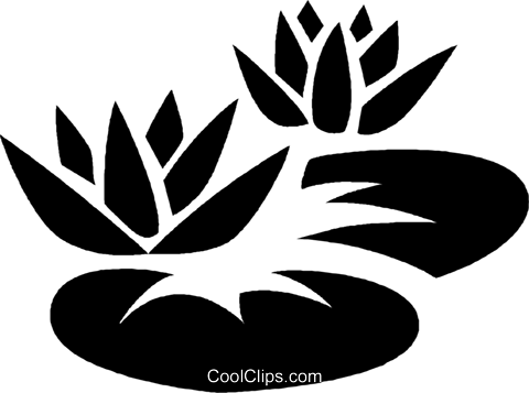 lily pads Royalty Free Vector Clip Art illustration vc027038