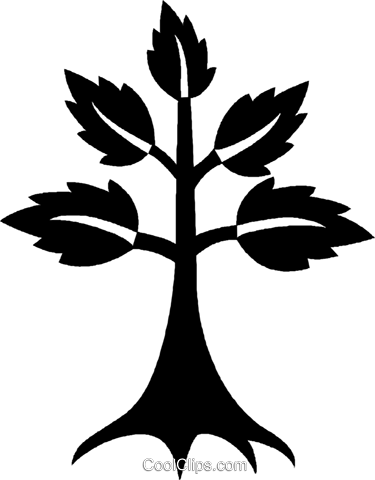 tree Royalty Free Vector Clip Art illustration vc027041