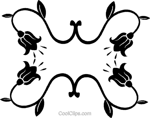decorative floral design Royalty Free Vector Clip Art illustration vc027048