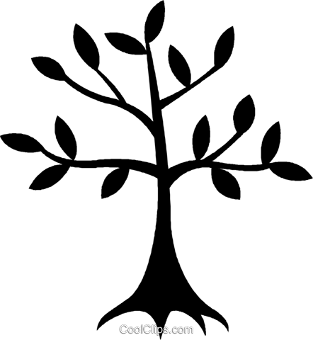 tree Royalty Free Vector Clip Art illustration vc027054