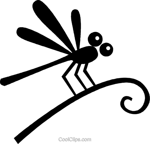 dragon fly Royalty Free Vector Clip Art illustration vc027066