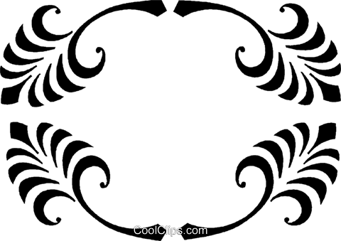 decorative floral design Royalty Free Vector Clip Art illustration vc027069