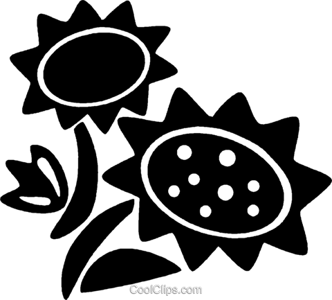 sunflowers Royalty Free Vector Clip Art illustration vc027106