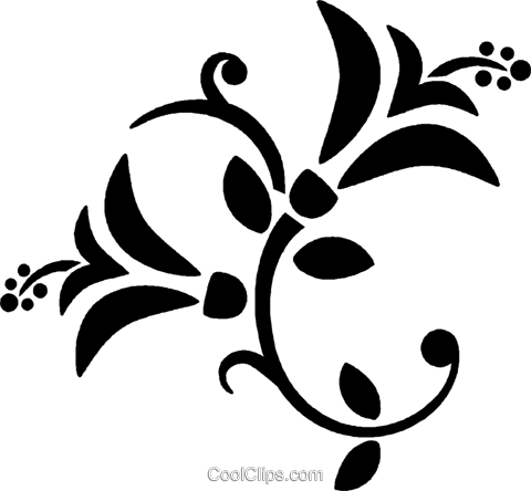 decorative floral design Royalty Free Vector Clip Art illustration vc027111