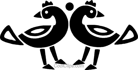 birds Royalty Free Vector Clip Art illustration vc027119