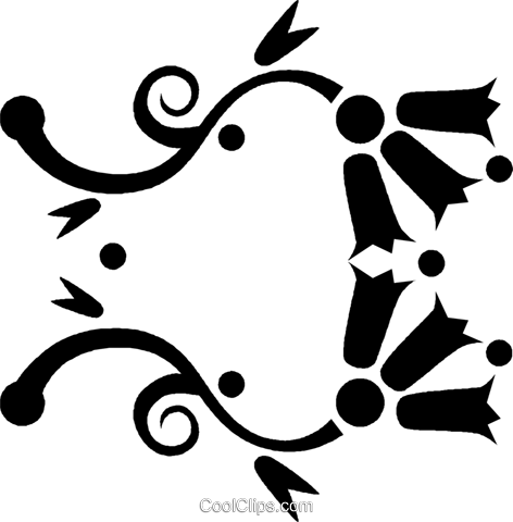 decorative floral design Royalty Free Vector Clip Art illustration vc027139