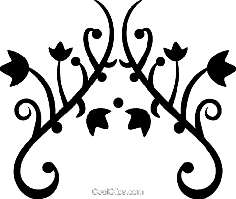 decorative floral design Royalty Free Vector Clip Art illustration vc027150