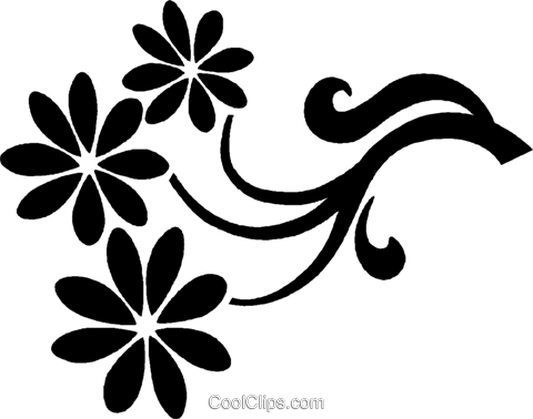 decorative floral design Royalty Free Vector Clip Art illustration vc027156