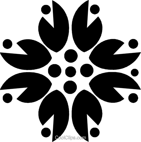 decorative floral design Royalty Free Vector Clip Art illustration vc027181