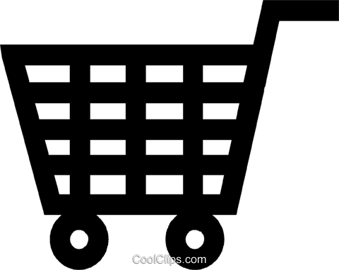 shopping cart Royalty Free Vector Clip Art illustration vc027188