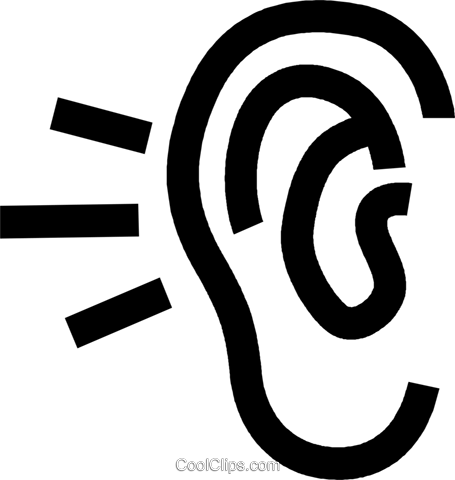 human ear Royalty Free Vector Clip Art illustration vc027196