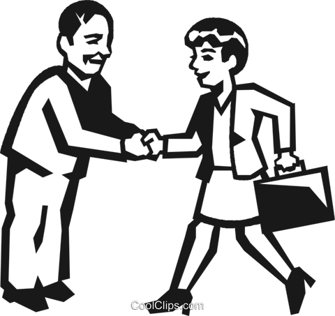 business people shaking hands Royalty Free Vector Clip Art illustration vc027209