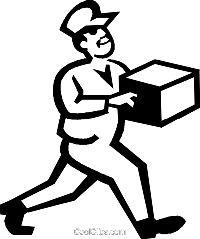 delivery man Royalty Free Vector Clip Art illustration vc027211