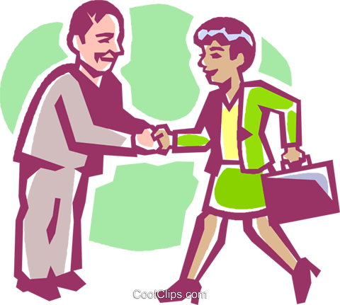 business people shaking hands Royalty Free Vector Clip Art illustration vc027216