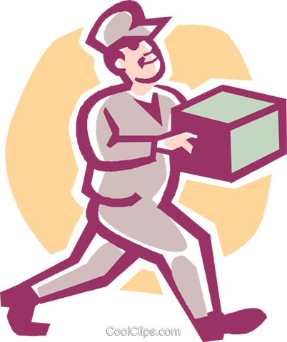 delivery man Royalty Free Vector Clip Art illustration vc027217