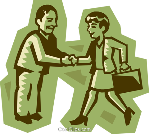 business people shaking hands Royalty Free Vector Clip Art illustration vc027219