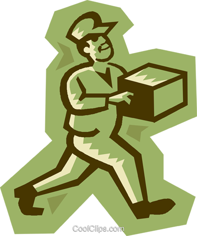 delivery man Royalty Free Vector Clip Art illustration vc027220