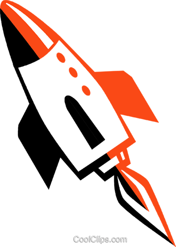 space shuttle Royalty Free Vector Clip Art illustration vc027231