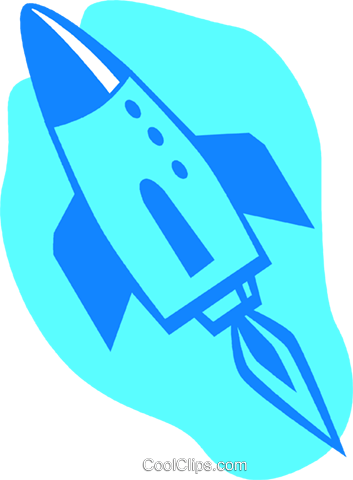 space shuttle Royalty Free Vector Clip Art illustration vc027236