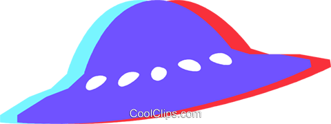 ufo Royalty Free Vector Clip Art illustration vc027239