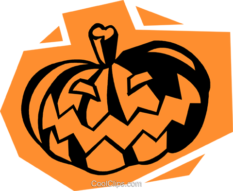 Halloween pumpkin Royalty Free Vector Clip Art illustration vc027246
