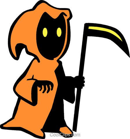 grim reapers Royalty Free Vector Clip Art illustration vc027252