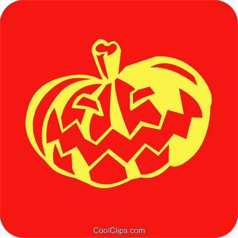Halloween pumpkin Royalty Free Vector Clip Art illustration vc027256