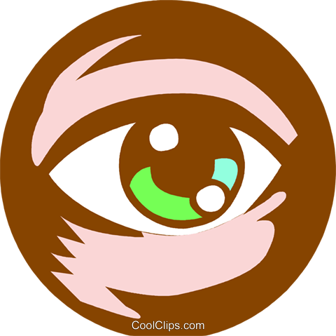 eye ball Royalty Free Vector Clip Art illustration vc027259