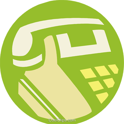 telephone Royalty Free Vector Clip Art illustration vc027260