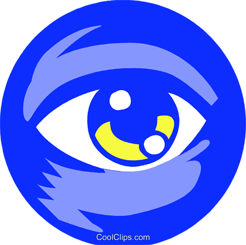 eye ball Royalty Free Vector Clip Art illustration vc027264