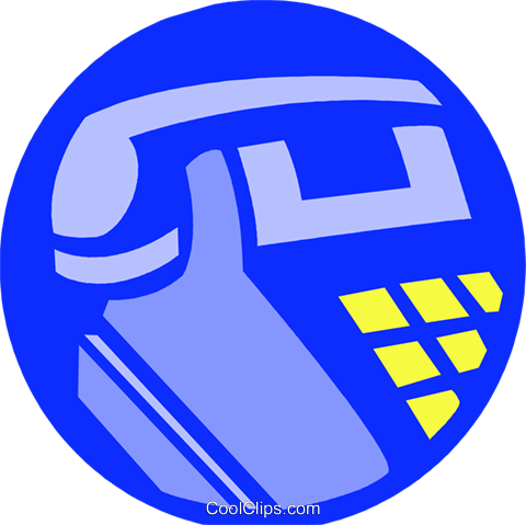 telephone Royalty Free Vector Clip Art illustration vc027265