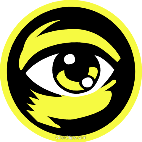 eye ball Royalty Free Vector Clip Art illustration vc027269