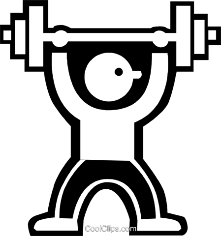 weight lifter Royalty Free Vector Clip Art illustration vc027295