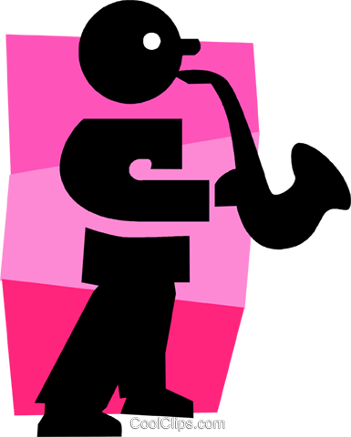 sax player Royalty Free Vector Clip Art illustration vc027297
