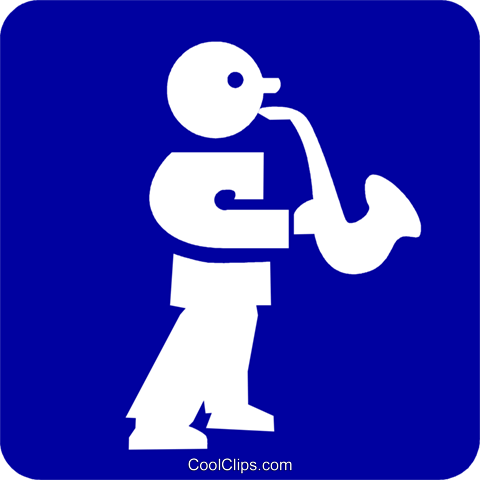 sax player Royalty Free Vector Clip Art illustration vc027302