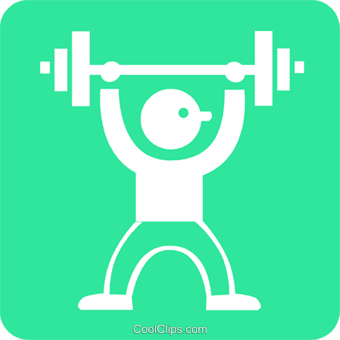 weight lifter Royalty Free Vector Clip Art illustration vc027305