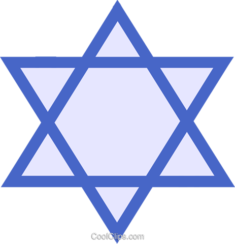 Judaism star of David Royalty Free Vector Clip Art illustration vc027309