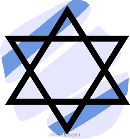 Judaism star of David Royalty Free Vector Clip Art illustration vc027313