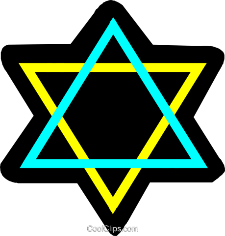 Judaism star of David Royalty Free Vector Clip Art illustration vc027321