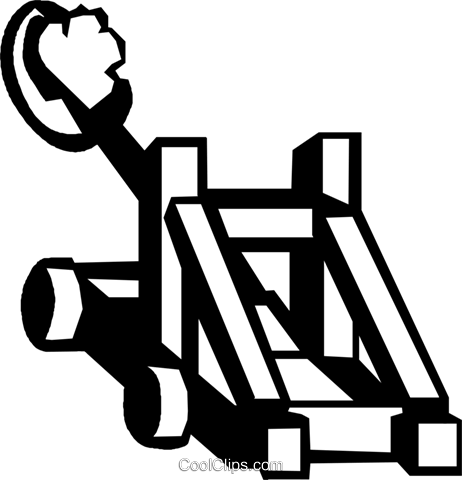 catapults Royalty Free Vector Clip Art illustration vc027326