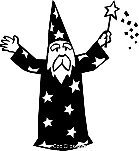 wizard Royalty Free Vector Clip Art illustration vc027329