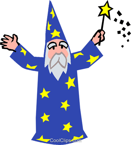 wizard Royalty Free Vector Clip Art illustration vc027335