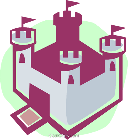 castle Royalty Free Vector Clip Art illustration vc027338