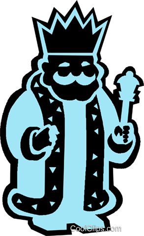 king Royalty Free Vector Clip Art illustration vc027340