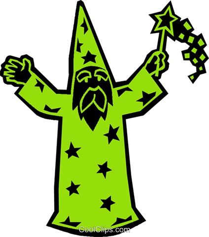 wizard Royalty Free Vector Clip Art illustration vc027343